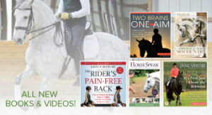 New horse books and equestrian videos.
