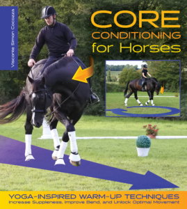 black dressage horse stretching Core Conditioning for Horses