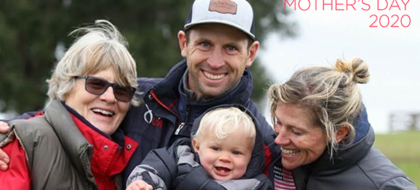 Tik Maynard with mom wife and son