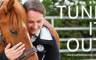 woman and Mustang hug horse book