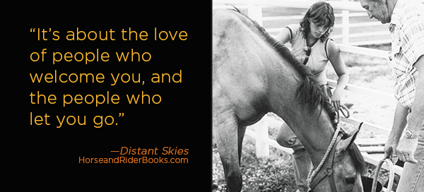 quote and girl with horse for memoir Distant Skies