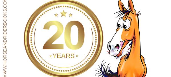cartoon horse Fergus 20th anniversary book