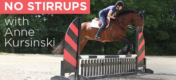 jumping no stirrups Anne Kursinski