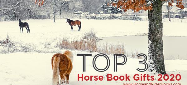 pony walking toward horses in snow top horse gifts